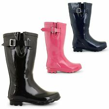 GIRLS JUNIORS KIDS RAIN MUD BOOTS MID CALF WELLIES WELLINGTON BOOTS SHOES SIZE