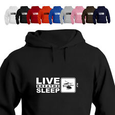 RC Copters Helicopter Lover Gift Hoodie Hooded Top Live Breathe Sleep Fly