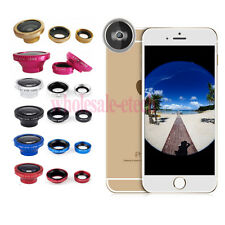 3 in1 Fish Eye+Wide Angle+Macro Lens Camera Magnetic Kit for Samsung iphone 5S 6