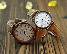 Female Korean PU Leather Strap Lovers Watch Compass Round Dial Wrist Watch