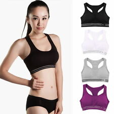 Women Seamless Racerback Sports Bra Yoga Fitness Padded Stretch Workout Top NEWS