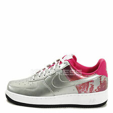 WMNS Nike Air Force 1 07 PRM QS [704517-002] NSW Casual Silver/Fireberry
