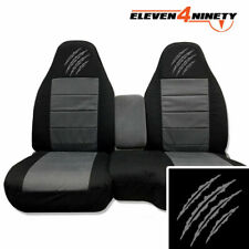 1991-2003 Ford Ranger 60-40 Black Charcoal Seat Covers / Bear Claw Marks Logo