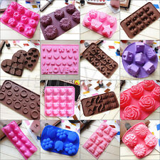 Chocolate Cake Cookie Muffin Jelly Baking Silicone Bakeware Mould Mold 0024n