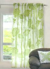 Hawaiian tropical 1 Sheer panel Window treatment curtain drape Floral sage green