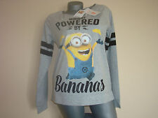 Ladies Girls Blouse Top DESPICABLE ME MINIONS BANANAS Movie NEW MODEL