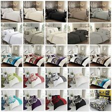 New Luxury  Duvet Quilt Cover Bedding Set With Pillow Cases All Sizes