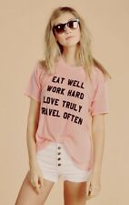 NWT Wildfox Couture - Mantra Perfect Tee in Peony Pink