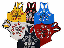 World Gym Ringer Tank Top- New