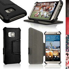 PU Leather Skin Flip Case for HTC One M9 2015 Stand Folio Cover Screen Protector