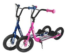 Storm Kids Blue Pink Girls Boys Push Retro Childrens BMX Scooter With Air Tyre