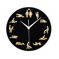 Sexual Position Clock / 24Hours Sex Clock / Novelty Adult Only Wall Clock 711