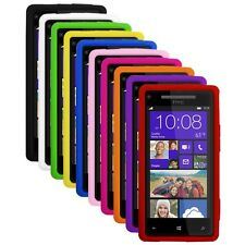 Silicone Soft Rubber Skin Cover Case for HTC Windows Phone 8X
