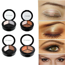 New Smoky 3 colors natural eyeshadow makeup eye shadow palette Naked Beauty
