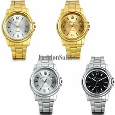 Men's  Stainless Steel Band Casual Business Simple Dial Quartz Wrist Watch Gift