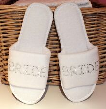 Personalised Wedding Day Spa Slippers! Bridesmaid hen party bachelorette bride
