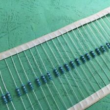 100pcs 1/4W 0.25W Metal Film resistor 1% 1/1.2/1.5/2/2.4/3/3.6/3.9/4.7/5.1 OHM