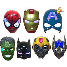 Halloween Super Hero Led Light Up Mask Party Costume Cosplay Toy