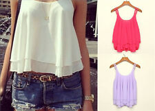 Sexy Women Fashion Casual Sleeveless Shirt Loose Vest Tank Top Blouse Summer New