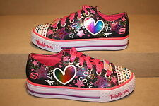 GIRLS SKECHERS HEARTS AND STARS TWINKLE TOES - SEE LISTING FOR SIZE (635)