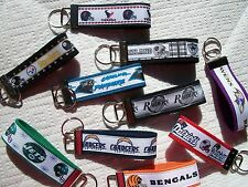 Texans Patriots Steelers Raiders Bengals Panthers Jets Ravens Key Chain Rings