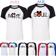 Disney Mickey Minnie Mouse Soul Mate Design Couple T-Shirt Boy Girls Graphic Tee