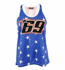 Nicky Hayden 69 MotoGP USA Flag Womens Tank Top Vest Official 2015