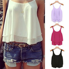 New Sexy Women Summer Sleeveless Shirt Loose Casual Vest Tank Top Blouse