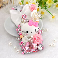 Hello Kitty bling phone Case for Galaxy s3 s4 s5 Note 2/3/4 iPhone 4/5/6/6+