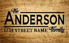 Personalized Name Address Decal Mailbox Door Sign Wood Sticker Family Custom