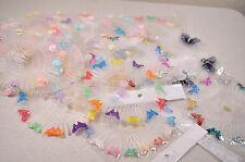 HEADBAND DECORATED FULL CIRCLE PLASTIC HAIR COMB FLEXIBLE SPIDER TEETH ACCESSORY