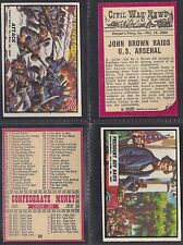 A&BC - CIVIL WAR NEWS 1965 (TITLE 41mm) (NUMBERS 31-60) PLEASE SELECT YOUR CARD.