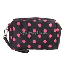 Polka Dots Zipper Cosmetic Make-up Organizer Bag Hand Case Pouch