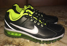 NEW Mens 8 NIKE Air Max 360 2013 Black Leather Running Training Shoes Sneakers