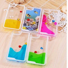 Swimming Fish Liquid Clear Crystal Hard Case for iPhone6/6plus/5/5S/4/4s Samsung