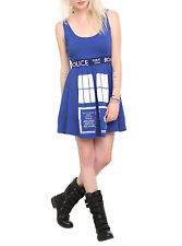 BBC DR Doctor Who Her Universe Costume TARDIS Skater Dress Police Call Box XS-2X