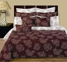 11pc Luxury Cloverdale Reversible Duvet Cover Bedding Set with Pillows & Shams
