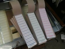 A BOOK OF 600 TEAR OUT JUKE BOX TITLE STRIPS RECORD LABELS 45'S RED GREEN BLUE