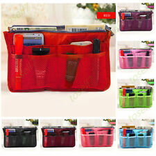 New Organizer Women Travel Bag Purse Handbag Insert Large Tidy Makeup Cosmetic