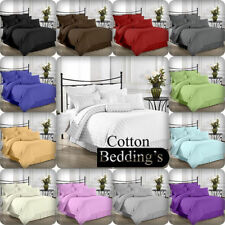 1000 TC Hotel Bedding Collection Set Solid/Striped Bedding 100% Cotton All Color