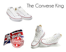 Unisex Converse All Star Chuck Taylor Ox Trainers Low and High Top Shoes White