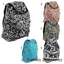 Women's Fabric Backpack Indian Nepal Retro woven Hippie Vintage Folklore Boho