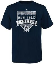 New York Yankees MLB Majestic Home Plate Mens Navy Blue T Shirt Big & Tall Sizes
