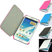 PU Leather Hard Slim Case Cover  for Samsung Galaxy Note 2 II i605 i317 L900
