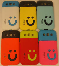 Rubberized Smiley Hard Back Case Cover For SAMSUNG GALAXY GRAND QUATTRO i8552