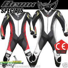 Berik Trojan 1pc Leather Suit CE Protective Clothing Racing Road Bike Track Ride