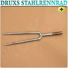 NUOVO NEW druxs ACCIAIO FORCELLA STEEL FORK bicicletta da corsa Road Bike appena srtaight CROMO