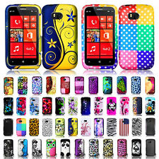 Color Design Snap-On Protective Hard Accessories Cover Case For Nokia Lumia 822
