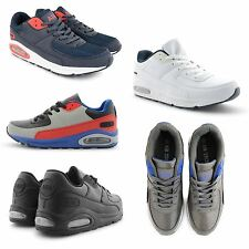 NEW MENS RUNNING WALKING GYM SPORTS LACE UP COMFORTABLE AIR TRAINERS SHOES UK