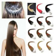 "FULL HEAD 200S 20""22""24""26"" LOOP/MICRO RING HUMAN HAIR EXTENSIONS 100g 160g"